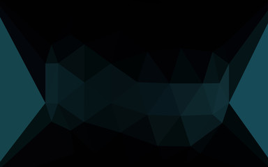 Dark BLUE vector shining triangular layout with a gem in a centre.