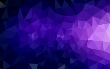 Dark Purple, Pink vector shining triangular backdrop.