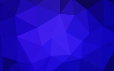 Dark BLUE vector polygonal background.