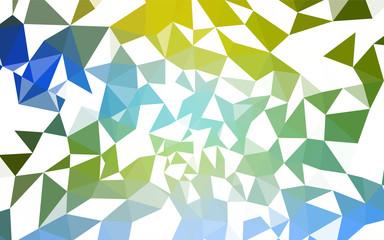 Light Blue, Green vector polygon abstract backdrop.