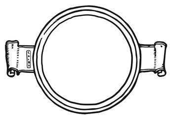 Label Picture or text frame round historically #vector #isolated - Etikett Bilder- bzw. Textrahmen rund historisch