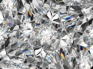 diamond extreme closeup and kaleidoscope effect