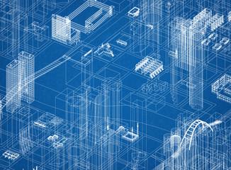 City Concept Architect Blueprint