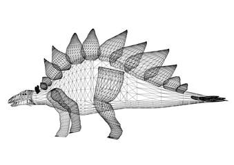 Dinosaur Architect Blueprint - isolated