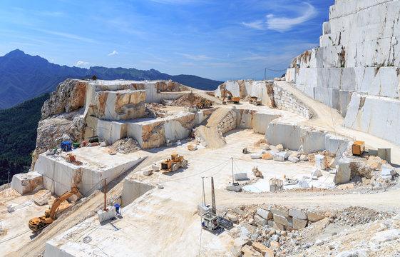 Marmor Steinbruch in Carrara