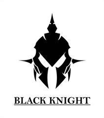 Tribal black Knight on white background