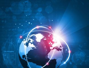 Global internet connection background. 3d illustration .