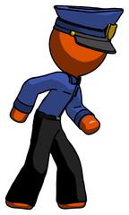 Orange Police Man Suspense action pose facing right