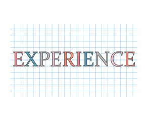 experience concept- vector illustration