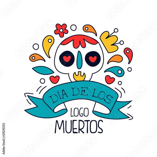 Dia de los muertos logo traditional mexican day of the dead design dia de los muertos logo traditional mexican day of the dead design element with sugar m4hsunfo