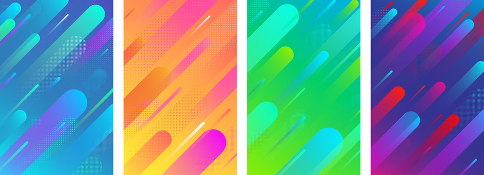 Colorful backgrounds with abstract geometric pattern.