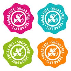 Wall Mural - Sugar free Badges. Eps10 Vector.