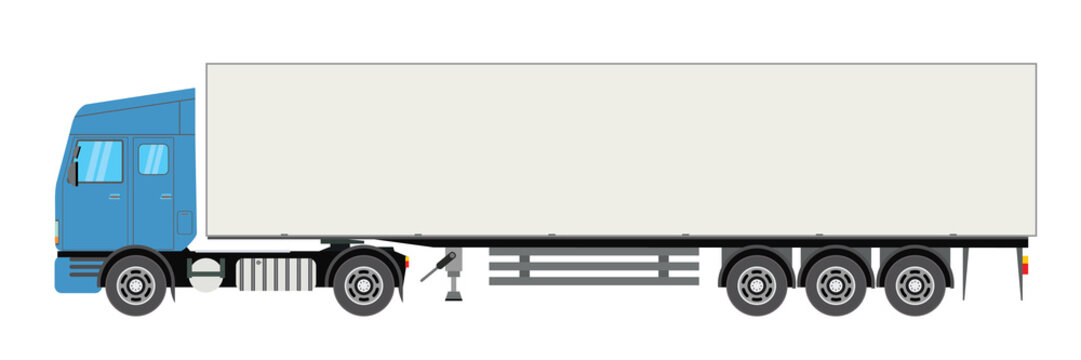 Trailer truck long vehicle