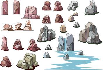 岩や石の素材集