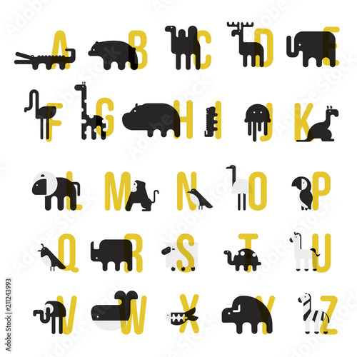 Animals alphabet  Letter from A to Z  Letters  Learn to read