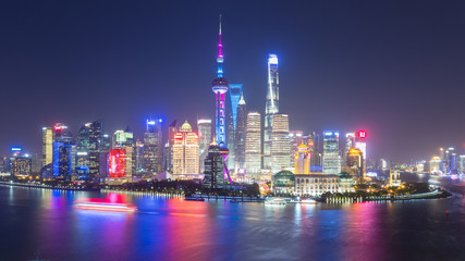 Wall Mural - beautiful shanghai skyline at night