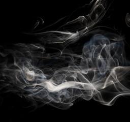 Smoke on black background