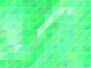 Abstract geometric background with green triangles. Polygon pattern, Vector illustration