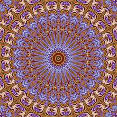 Abstrakt polygonal mandala grafik