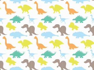 Dinosaurs Wallpaper Vector Illustration 9