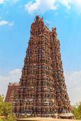Wall Mural - The famous temple of Meenakshi.