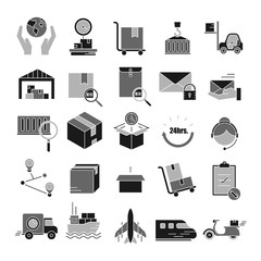 Logistic,Delivery symbol,Transportation icon set