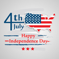 Illustration of background for USA Independence day