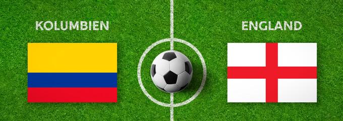 Fußball - Kolumbien gegen England