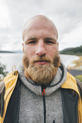 Portrait of a man travelling the Lofoten