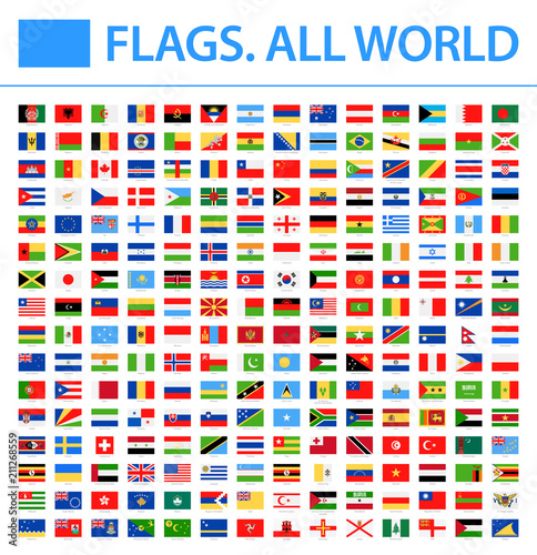 All World Flags - New 2018 - Vector Rectangle Flat Icons