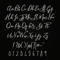 Script Handwritten Alphabet