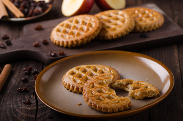 Cookies with apple filling, delish homemade