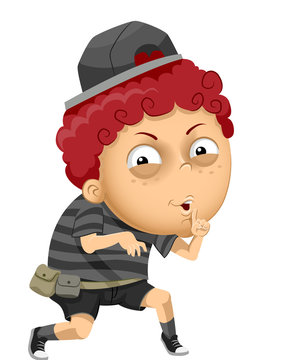 Kid Boy Bully Evil Secret Illustration