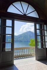 Ausblick von der Villa Carlotta  auf den Comer See