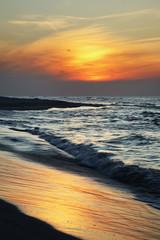 Sunset in Jastarnia. Hel Peninsula. Poland
