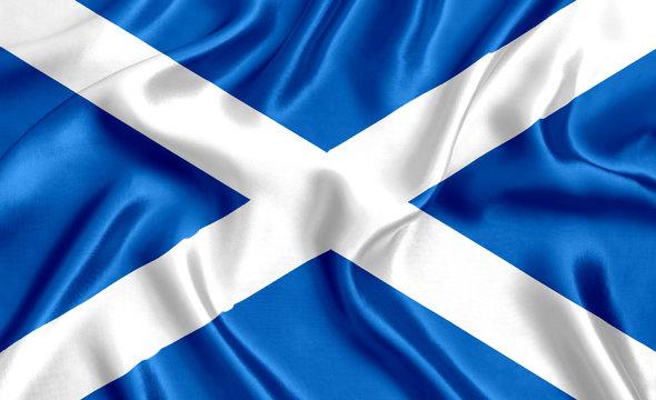 Flag of Scotland silk