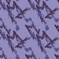 Camo background in different shades of violet and brown colors