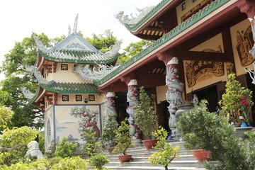 Temple bouddhiste à Danang au Vietnam