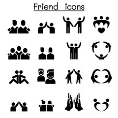 Friendship & Friend icon set