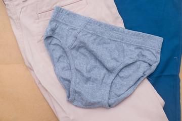 New men gray underwear shorts