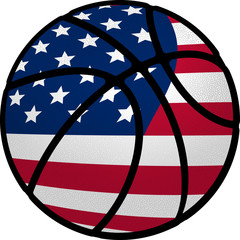 Basketball USA Stars and Stripes Ball
