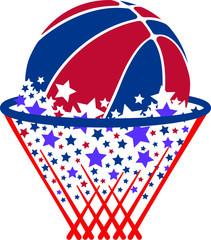 Basketball USA Stars and Stripes Ball