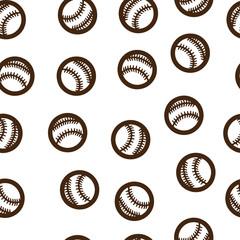 Baseball pattern seamless isolated