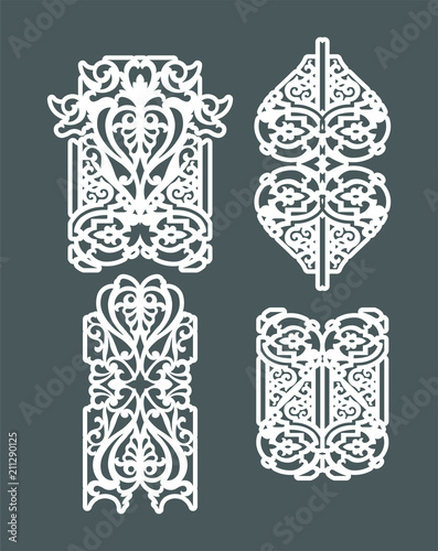 Laser cut vector panel for decorative panel  A picture