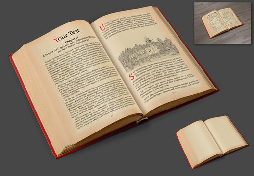 Ancient Book Mockup Layout