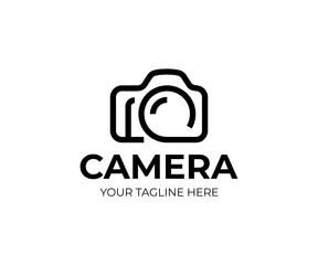 Digital camera logo template. Photography vector design. Photo studio logotype