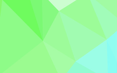 Light Green vector polygonal background.