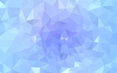 Light Pink, Blue vector polygon abstract backdrop.