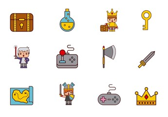 20 Colorful Video Game Icons