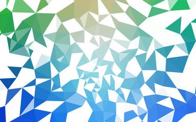 Light Blue, Green vector polygonal template.